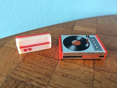Radio Plattenspieler Lundby  Puppenstube Puppenhaus 1:18 dollhouse record player