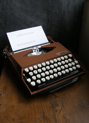 Rare1970s Smith Corona Ghia Chocalate Brown manual portable typewriter,tjaarda,