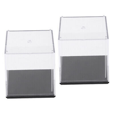 2Pcs DIY Clear Acrylic Display Case Box Stand for Amiibo Funko POP Doll Toys