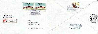 1987 Madeira Portugal Filatelia registered cover. Europa Architecture.