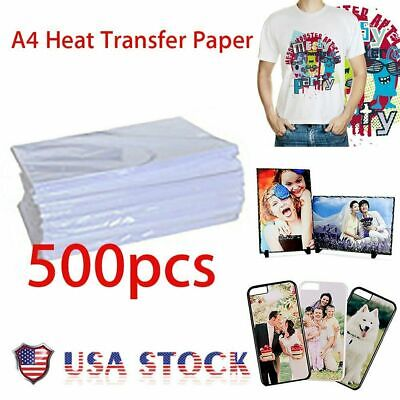 500 Sheets A4 Sublimation Heat Transfer Paper for inkjet Printer Sublimation ink