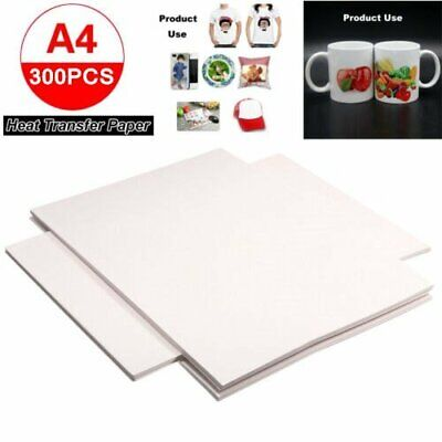 300 Sheets A4 Sublimation Heat Transfer Paper for inkjet Printer Sublimation ink