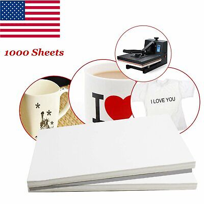 1000 Sheets A4 Dye Sublimation Heat Transfer Paper for Polyester Cotton T- Shirt