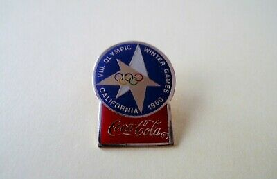Pins Pin's Jo Jeux Olympiques California 1960 Winter Games Coca Cola