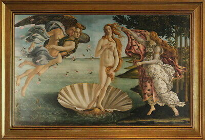 Classic Framed Sandro Botticelli The Birth of Venus Giclee Canvas Print