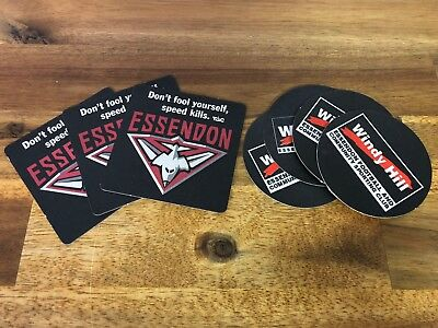 Essendon Football Club AFL Windy Hill Drink Coasters Lot