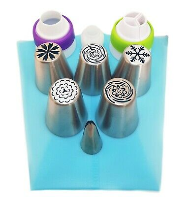15 pc Russian Piping flower tips- set of 5 nozzles for cupcake/cake decorating
