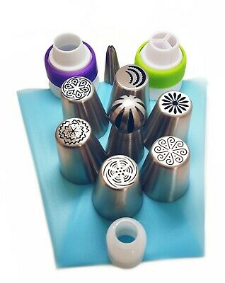 16 pc Russian Piping flower tips- set of 5 nozzles for cupcake/cake decorating
