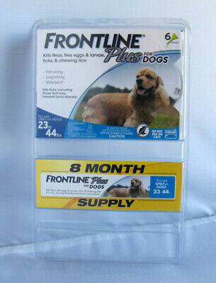 Frontline Plus Flea Tick Treatment For Medium Dogs 23-44 lbs - 8 Doses
