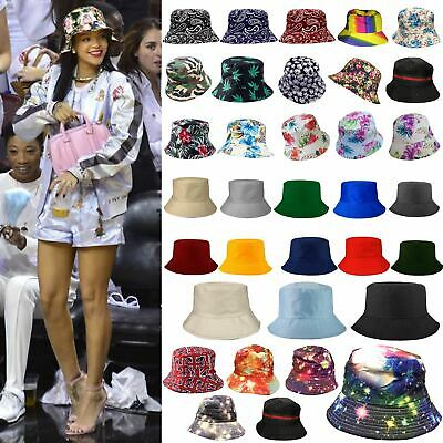 New Men's Women's Printed Plain Boonie Bucket Hat Outdoor Festival Fishing