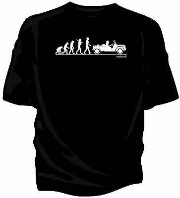 Evolution of Man.  Citroen Mehari classic car t-shirt