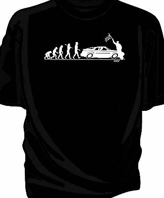 'Evolution of Man' Chequered flag t-shirt-  classic 944