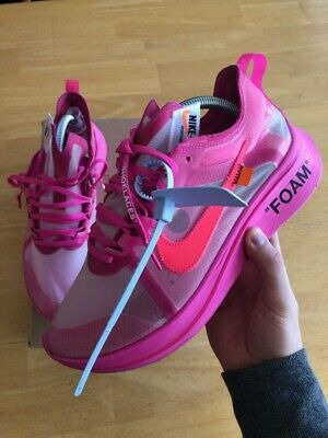 c3724b6295db Off-White x Nike Zoom Fly Tulip Pink - Size 9.5 GOAT The Ten Authentic