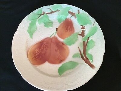 Vintage French Majolica Plate Pear Motif~St Clement~France