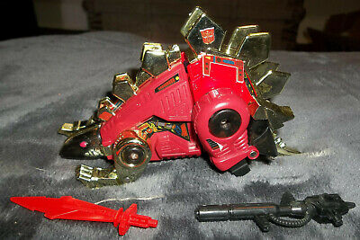 VINTAGE G2 TRANSFORMERS Autobot DINOBOT Snarl RED VARIANT 100% Complete EXC  CON