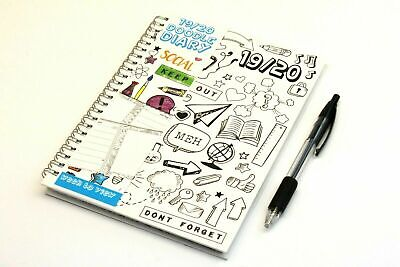 2019-2020 Academic 'doodle Your Own' A5 Week To View, Twin Wiro Hardback Diary.