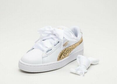 PUMA BASKET HEART Glitter Sneakers Casual Navy Womens