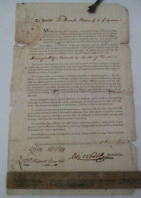 1801 William C.C. Claiborne Mason Document , Signed by Robt. Williams & Wm. Polk