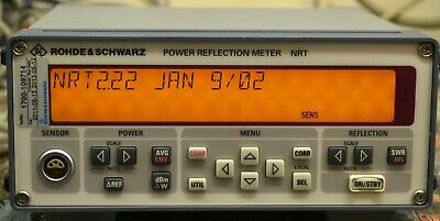 Rohde & Schwarz NRT Power Reflection Meter w/protective covers, user's manual