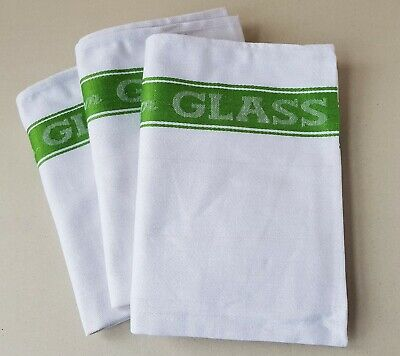 Linen Union Glass Cloth Tea Towel 50% Cotton 50% Linen Green Kitchen