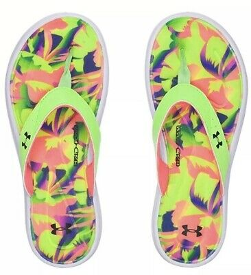 designer fashion 7bebe 36211 Women s Under Armour Marbella V Floral Thong Slide Sandal NWT  35