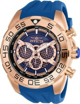 Invicta Watch Speedway Mens 50 mm Rose Gold, Blue Dial Model-26305