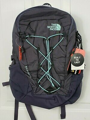 01e2eadbbfb2 The North Face Women s Borealis Backpack Greystone Blue Ripstop Mint Blue  NEW
