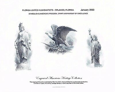 BEP Souvenir Card B265 FUN 2003 Orlando Freedom & Liberty Intaglio Mint