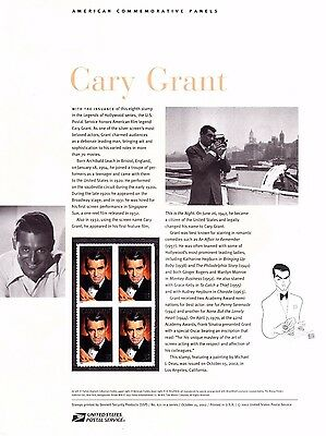 USPS Commemorative Panel 671 #3692 Cary Grant Legends of Hollywood Block/4 2002
