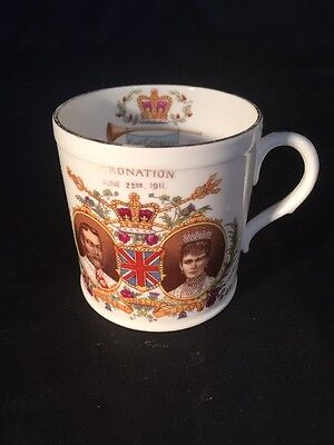 Shelly China Mug George V Coronation 1911 Urban District Of Chadderton