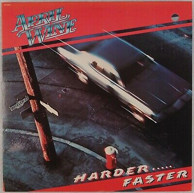 APRIL WINE: Harder …. Faster US Capitol ST-12013 '79 Hard Rock Orig Vinyl LP