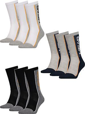 3 Pack Mens Womens Unisex Head Performance Crew Sports Socks
