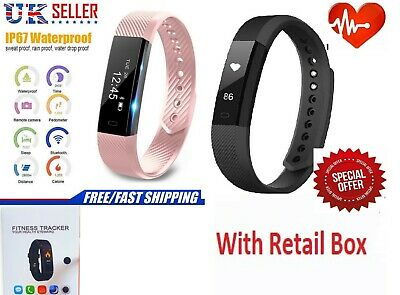 Bluetooth Smart Watch Fitness tracker Step Calorie Counter Pedometer Fit Sleep
