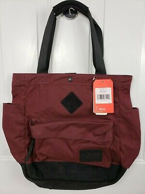 0724d1c78 The North Face Four Point Tote Suede Details DEEP GARNET RED/TNF BLACK NEW
