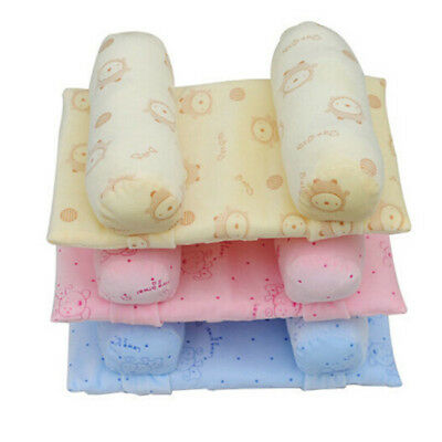 Infant Baby Anti Roll Pillow Toddler Safe Cotton Sleep Flat Head Positional G