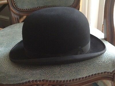 4db62aa932b24 HERBERT JOHNSON VINTAGE Hat NEW BOND STREET Cap Tweed 7 3 8 1920s ...