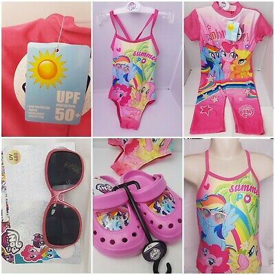fa8558e4f0d1c My Little Pony Girls OFFICIAL Swim Wear Clogs Sunglasses Swimming Costumes