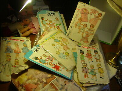 Vintage Doll Clothes PATTERNS - 1950s - 70s - LOT - Sold As is - GREAT VARIETY