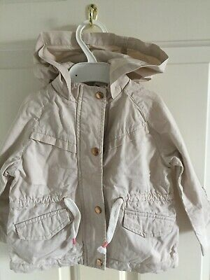 Zara Girls Light Stone Spring Thin Casual Jacket Hooded Age 12-18 months (86cm)