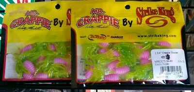 """Mr.Crappie 2/"""" Slabalicious MRCSLC-187 Red Chartreuse 45ct"""