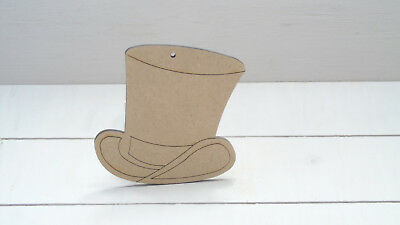 TOP HATS - Wooden * 4cm -50cms * MDF 4mm Craft Shapes Tags  Weddings