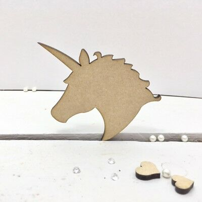 Wooden MDF Unicorn blank novelty craft embellishment hanging shape 3mm X10