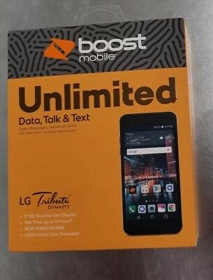 BRAND NEW LG Tribute Dynasty 4G LTE Android Smartphone - Boost Mobile  Prepaid