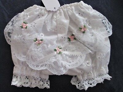 Pretty Embroidered Broderie-Anglaise Pants - To Fit 0-3 Month Old Baby