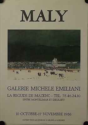 Affiche MALY 1986 Exposition Galerie Michele Emiliani