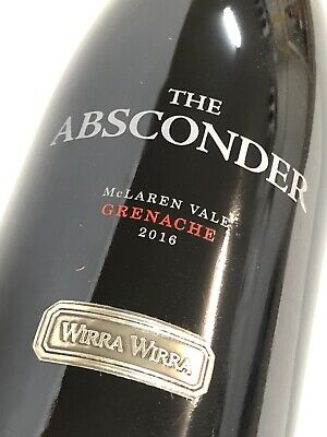 Wirra Wirra The Absconder Grenache 2016 Red Wine, McLaren Vale 1 X 750ml