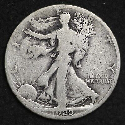 ** 1920-D Walking Liberty Silver Half Dollar FREE SHIPPING!