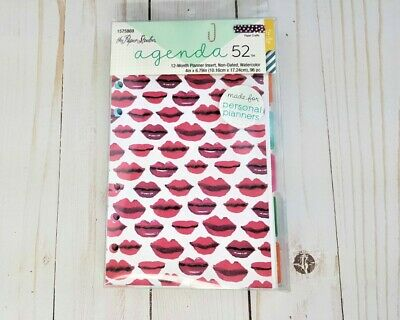 Personal Planner 12 Month Insert Non Dated Watercolor Agenda 52 by Paper Studio