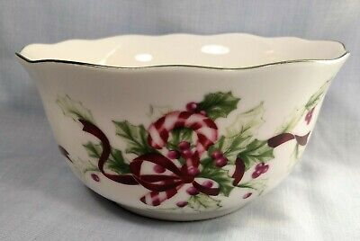 Charter Club Winter Garland Christmas Holiday Soup Cereal Bowl 6""