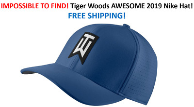 0bd3b7169873d RARE 2019 NIKE TW Ultralite Blue Golf Hat Tiger Woods FREE SHIP IN ...